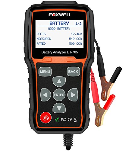 Battery Tester FOXWELL BT705 Automotive 100-2000 CCA Battery Load Tester, 12V 24V Car Cranking and...