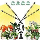 Lampe de Croissance pour Plantes, SOLMORE Lampe de Plante à 4 Têtes 160 LEDs 40W, 5 Niveaux Réglable LED Plante Lampe Horticole Spectre Complet avec Chronométrage 3H/6H/12H
