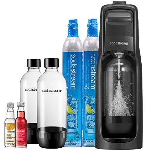 SodaStream Jet Sparkling Water Maker, Bundle, Black