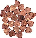 M-Home   Lot de 25 Mini Cœurs Antimites   Bois   Cèdre Rouge   25 mini-cœurs   ANTIMITE HEART   CED61625