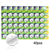 [Pack de 40] Batterie au Lithium CR2032 IDESION Piles Bouton 3V