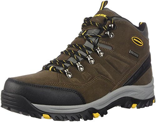 Skechers Men's RELMENT-PELMO Hiking Boot, khk, 8 Wide US