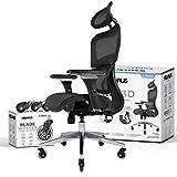 NOUHAUS Ergo3D Ergonomic Office Chair - Rolling Desk Chair with 4D Adjustable Armrest, 3D...