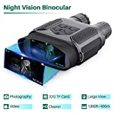 Jumelle Vision Nocturne pour Adultes, avec carte TF 32GB, zoom numérique...