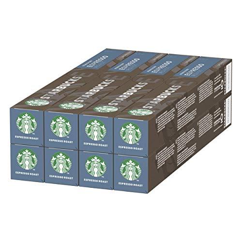 Starbucks Espresso Dark Roast di Nespresso Caffè Espresso Dalla Tostatura Forte 8 Astucci da 10 Capsule (80 Capsule)
