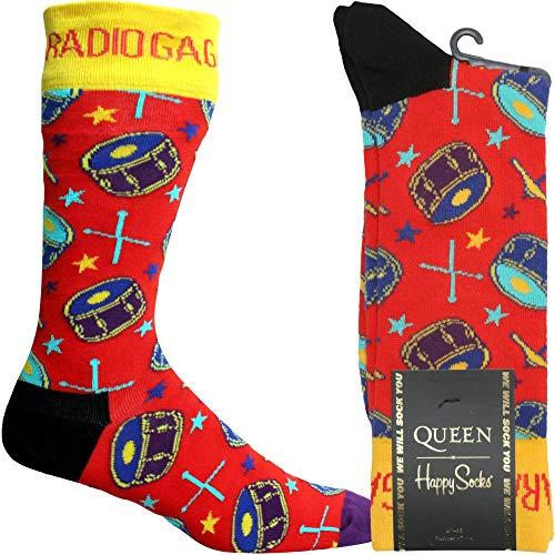 Happy Socks Regina Radio Ga Calzino, Rosso Medio/grande
