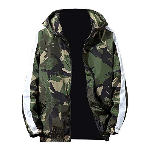 Big Teresamoon Mens Autumn Winter Zip Camouflage Long Sleeve Pocket Sport Hoodies Jacket Coat