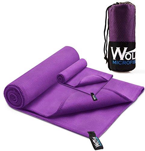 Wolfyok 2 Pack Microfiber Travel Sports Towel XL