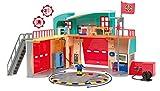 Smoby - Sam le Pompier - Caserne de Pompier Pontypandy + 1 Figurine - Sons et...