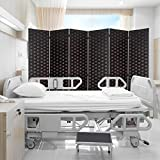 6ft. Tall- 16' Wide- Room Dividers Double Sided Woven Fiber ,Double Hinged Privacy Screen, Partition...