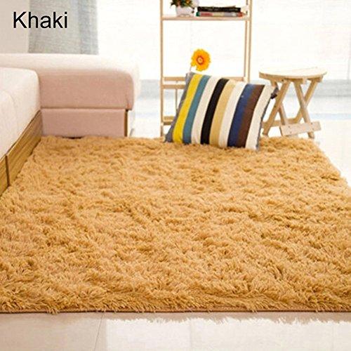 RIsxffp - Tappeto rettangolare morbido antiscivolo per camera da letto o soggiorno 40*60cm Kaki