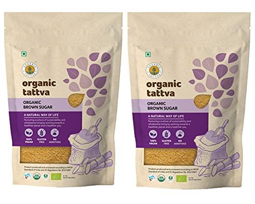 Organic Tattva - Organic Brown Sugar 2 KG | 100% Vegan, Gluten Free and NO Additives | Unrefined, Unprocessed Raw Sugar | Rich with Phosphorus, Calcium, Iron and Essential Nutrients