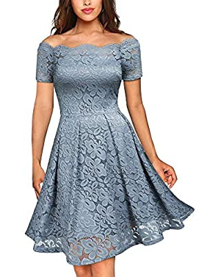 Size RECOMMEND:US 0/2(X-Small), US 4/6(Small), US 8/10(Medium), US 12/14(Large), US 16/18(X-Large),US 20 (XX-Large) Above Knee,Short Sleeve, Left Side Hidden Zipper,Floral Pattern Retro Elegant Style, Full Lace Overlay, Suit for Evening, Cocktail, We...
