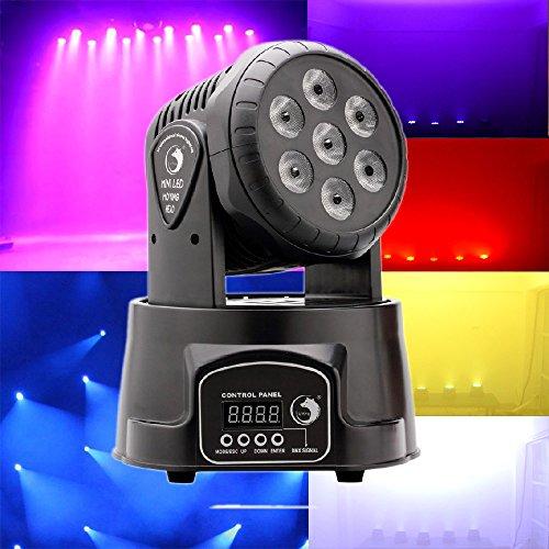U`King 90W RBGW Effetto Luce DJ Auto Suono Console Testa di Ragno di Doppio-fila DMX-512 7/15 Canali RGBW 4 Colori LED Luce di Scena Master-slave (7LED)