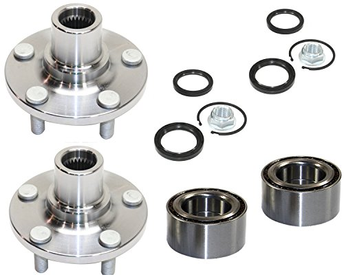 DTA D930501+NT517008 x2-2 Front Wheel Hub Wheel Bearing Kits Left and Right Fit Subaru Legacy Impreza Forester Baja With Seals Nut Retaining Clip