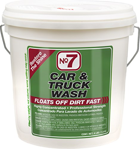 No7 Car & Truck Wash: Concentrated Powder, 4 lb Bucket