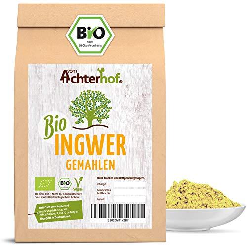 Bio Ingwerpulver 500g | Ingwer gemahlen | Ingwerwurzel gemahlen perfekt fuer Ingwertee Ingwertinktur Ingwerwasser oder zum Kochen