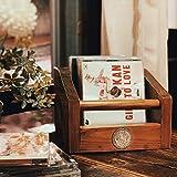 Kuan Caja vinilos Vintage Caja de Madera Caja Madera Doce medallas de Constelaciones,Hechas a Mano,Cada una es única.