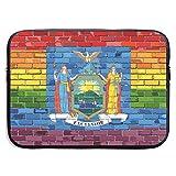 Brick Wall New York and Gay Flags Bolsas para computadora portátil compatibles con Tableta Netbook de 15 ″, maletín con Funda para el Bolso, Funda