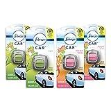 Febreze Car Air Freshener Vent Clips, 2 Gain Original and 2 Gain Island Fresh Scents, Odor Eliminator, 4 Count