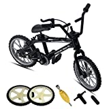 ZEXIN Alloy Mini Finger Bike for Children Model Toys Creative Game Gifts with Mini Bike BMX Bicycle(Black)