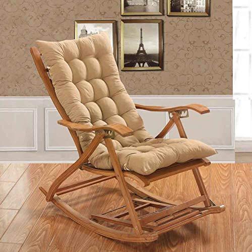 BoiiTooy Addensare Allungare Sedia A Dondolo A Cuscino,Sun Cuscino Reclinabile,Jumbo Rocking Chair...