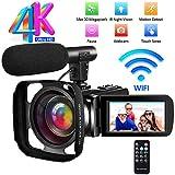 Caméscope Caméra Vidéo Ultra HD Camescope 4K Full HD Caméra de Vision...
