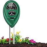 PentaBeauty Soil pH Meter, 3-in-1 Soil Tester with Moisture, Light and PH Soil Test Kit for Garden, Farm, Lawn, Indoor & Outdoor, Soil Moisture Meter