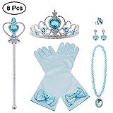 Vicloon Princesse Dress Up Accessoires,8pcs Elsa Cadeau Set pour Costume...