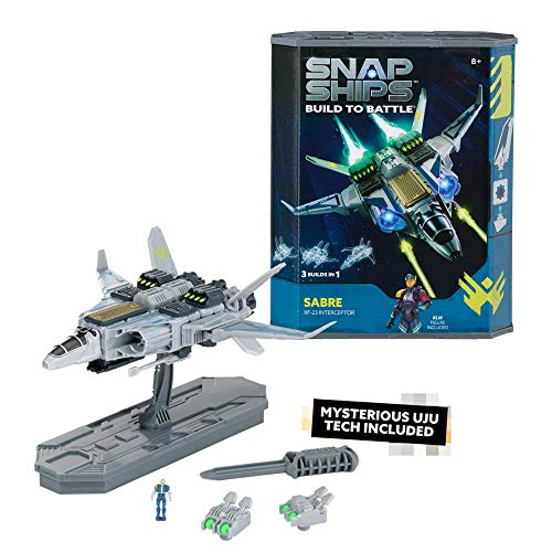 Snap Ships Sabre XF-23 Interceptor -- Construction Toy for Custom Building and Battle Play -- Ages 8+ (Toy)