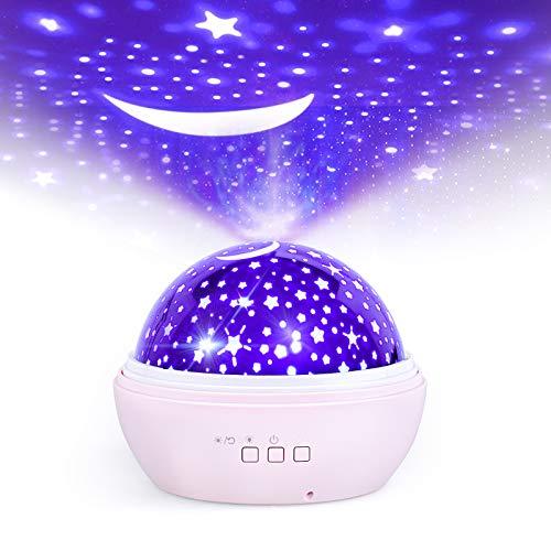 Proiettore Stelle Soffitto, FISHOAKY proiettore galassia 8 Colori, Proiettore Cielo Stellato Bambini, 360 Rotazione Led Proiettore, Lampada Proiettore Per Neonati, Compleanno, Regalo