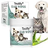 Toulifly Lingettes pour animaux domestiques, lingettes...