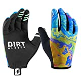 Dirt Gloves Mountain Bike Gloves MTB Bicycle Enduro Downhill XC Cycling Sports Full Finger (X-Large, Oil Slick)