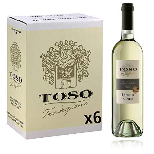 Toso S.p.a Toso Vino Bianco Langhe DOC Arneis, Piemonte, 6 bottiglie, 6 x 750ml