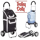 dbest products Trolley Dolly Reflective Shopping Grocery Foldable Cart Storage Mom