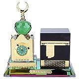 Jadpes Moschea Orologio Digitale Musulmano, Forniture Musulmane Torre dell'orologio Modello Kaaba Architettura Islamica Artigianato Decorazione del Desktop...