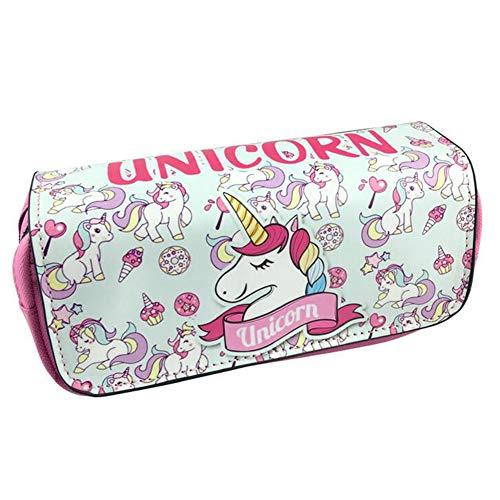 Unicorno Astuccio Portamatite Grande - Durevole Pencil Case con Cerniere Zip, Astuccio Scuola per Bambini Ragazze, Caso...