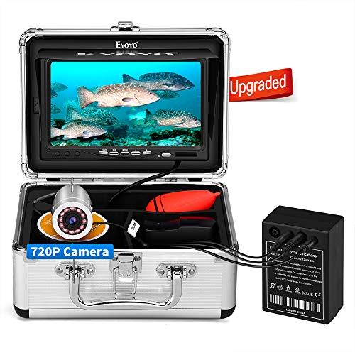 Eyoyo Fish Finder 15M Underwater Fishing Camera Fotocamera Pesca Subacquea con Monitor 12 IR 1024x600 IPS Ghiaccio, Lago e Barca