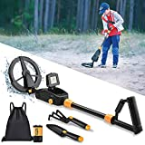 Metal Detector for Kids - 7.4 Inch Waterproof Kid Metal Detectors Gold Detector Lightweight Search Coil (24'-35') Adjustable Metal Detector for Junior & Youth with High Accuracy