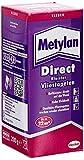 Metylan Direct Vliestapetenkleister, hochwertiger Kleister für den direkten Auftrag auf die Wand, Tapetenkleister für glatte und geprägte Tapeten, für bis zu 22m² (1x200g)