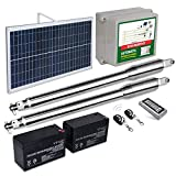 ECO-WORTHY Dual Swing Gate Opener Automatic Solar Gate Openers with Waterproof Keypad Heavy-Duty Driveway Double Gate Operators Up to 16 Feet 1320 lbs (Subcontract Delivery)