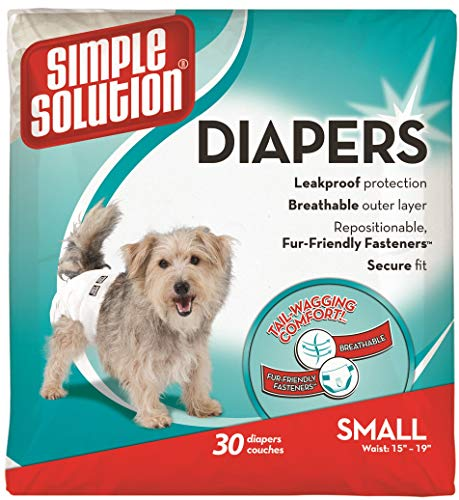 Simple Solution Disposable Dog Diapers for Female...