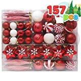 Joiedomi 157 Pcs Christmas Ornaments with a Star Tree Topper, Shatterproof Christmas Ornaments for Holidays, Party Decoration, Tree Ornaments, Events, and Christmas()