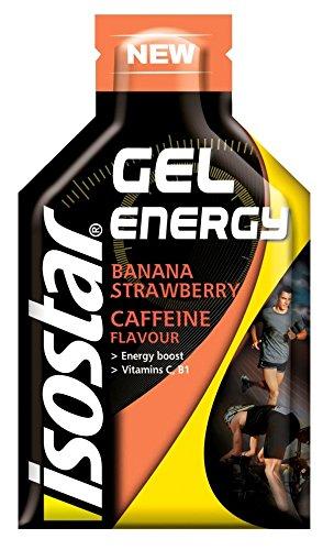 Gel Energético Isostar Gel Energy 24 Geles x 35g Fresa y Plátano con cafeína