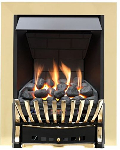 Eastleigh Slimline Radiant Gas Fire - Brass/Black