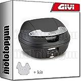 givi maleta e340nt + porta-equipaje compatible con piaggio zip 125 2012 12