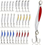 Sougayilang Fishing Spoons Lure, Casting Fishing Lures Blade Baits, Great for Fishing Perch, Crappie, Trout, Bass, Pike, Musky, Walleye, Salmon, Striper and More