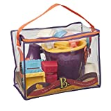 B. toys – B. Ready Beach Bag – Beach Tote with Mesh Panel and 11 Funky Sand Toys – Phthalates and BPA Free – 18 m+