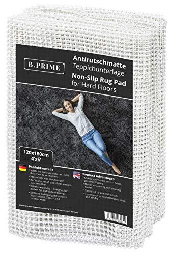 B.PRIME 120x180cm Antirutschmatte Universal I Teppichunterlage I Teppichunterleger I Teppichunterlage I Rutschschutz für Teppich I Teppichstopper