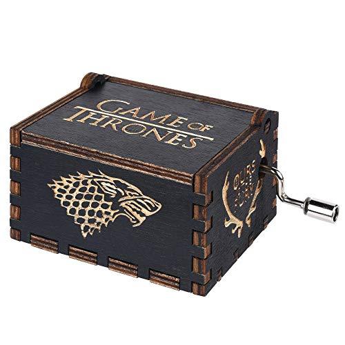 BADARENXS Premier – Caja de música, con el Grabado Game of Thrones en Madera, Caja Decorativa de Regalo de Navidad